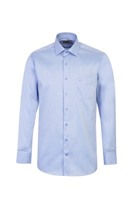Erkek Giyim - AÇIK MAVİ L Beden Uzun Kol Coolmax Slim Fit Gömlek