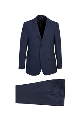 Erkek Giyim - KOYU MAVİ 48 Beden Kuşgözü Takım Elbise