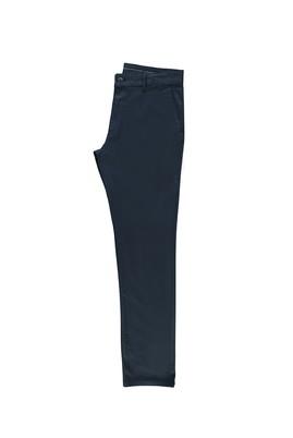 Erkek Giyim - KOYU MAVİ 52 Beden Saten Spor Pantolon