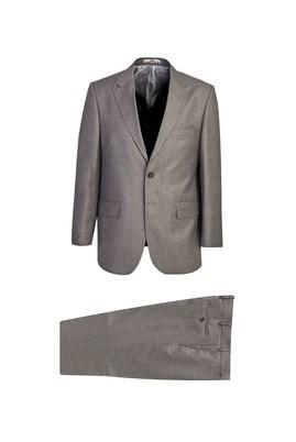 Erkek Giyim - VİZON 54 Beden Klasik Desenli Takım Elbise