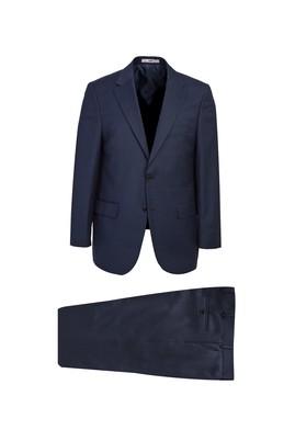 Erkek Giyim - ORTA LACİVERT LOT1 50 Beden Kuşgözü Takım Elbise