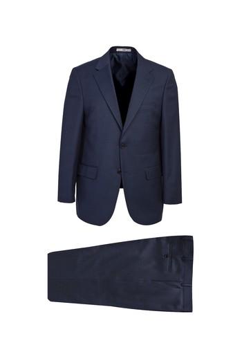 Erkek Giyim - Kuşgözü Yünlü Klasik Takım Elbise