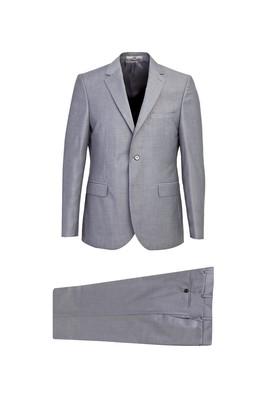 Erkek Giyim - AÇIK GRİ 52 Beden Slim Fit Takım Elbise