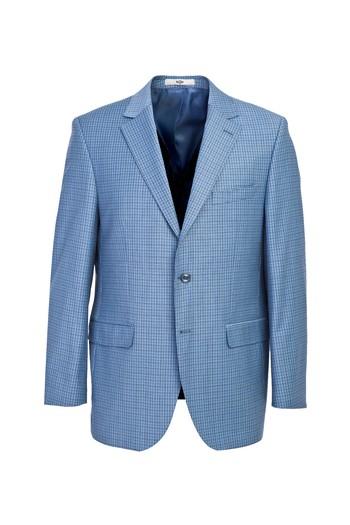 Erkek Giyim - Yünlü Kareli Takım Elbise