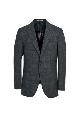 Erkek Giyim - SİYAH LACİVERT 52 Beden Spor Desenli Ceket