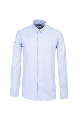 Erkek Giyim - MAVİ XXL Beden Uzun Kol Regular Fit Oxford Gömlek