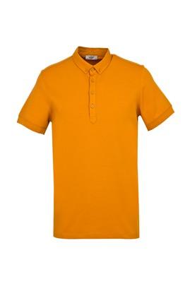 Erkek Giyim - SAFRAN 3X Beden Yarım İtalyan Yaka Regular Fit Süprem Tişört