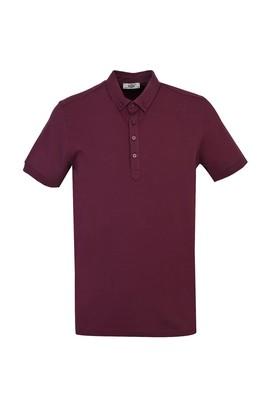 Erkek Giyim - VİŞNE 3X Beden Yarım İtalyan Yaka Regular Fit Süprem Tişört