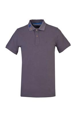 Erkek Giyim - ORTA FÜME M Beden Polo Yaka Slim Fit Tişört