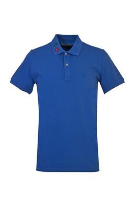 Erkek Giyim - KOYU LACİVERT L Beden Polo Yaka Slim Fit Tişört