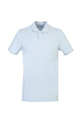 Erkek Giyim - AÇIK MAVİ L Beden Polo Yaka Regular Fit Tişört