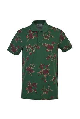 Erkek Giyim - NEFTİ M Beden Polo Yaka Slim Fit Baskılı Tişört