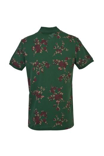 Erkek Giyim - Polo Yaka Slim Fit Baskılı Tişört
