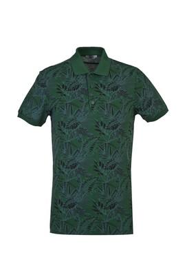 Erkek Giyim - NEFTİ L Beden Polo Yaka Slim Fit Baskılı Tişört