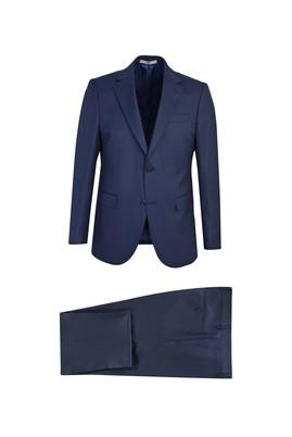 Erkek Giyim - KOYU LACİVERT 54 Beden Klasik Takım Elbise