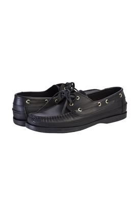 Erkek Giyim - SİYAH 41 Beden Casual Bağcıklı Deri Ayakkabı