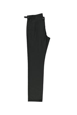 Erkek Giyim - KOYU ANTRASİT 50 Beden Tokalı Spor Pantolon