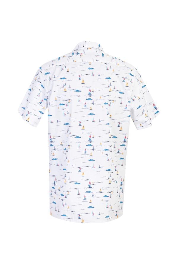 Kısa Kol Regular Fit Baskılı Spor Gömlek
