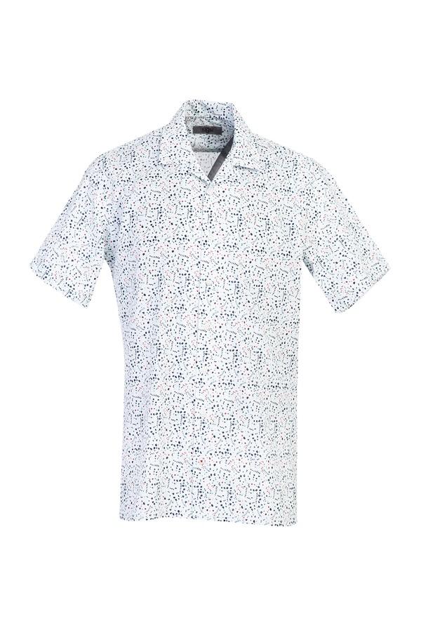 Kısa Kol Relax Fit Desenli Gömlek