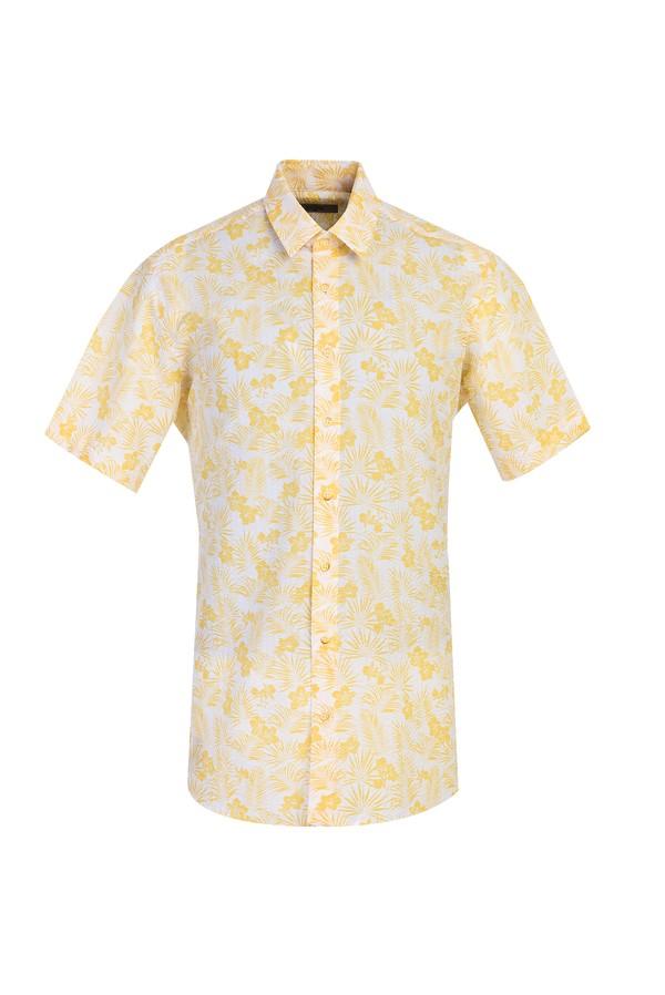 Kısa Kol Desenli Spor Gömlek