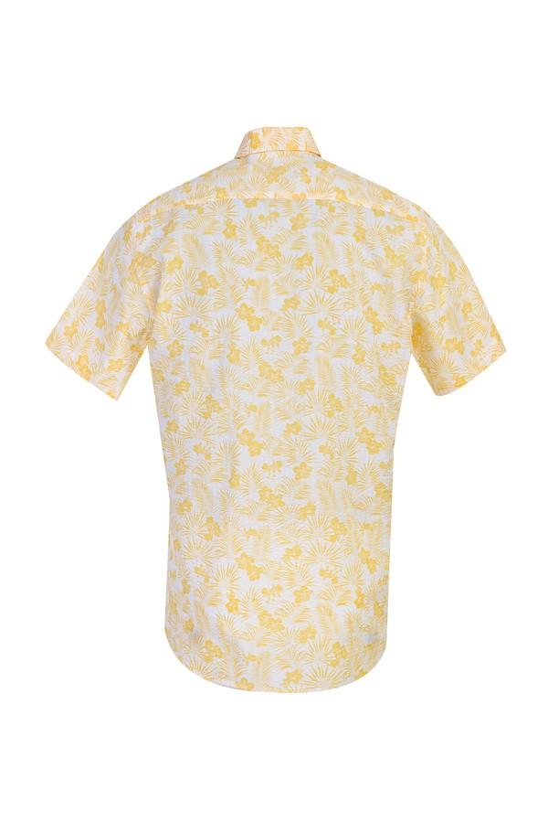 Kısa Kol Regular Fit Desenli Spor Gömlek