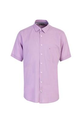 Erkek Giyim - LİLA 3X Beden Kısa Kol Klasik Gömlek