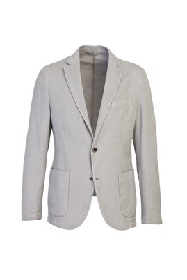 Erkek Giyim - AÇIK GRİ 54 Beden Desenli Ceket