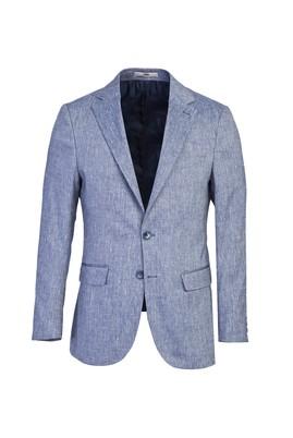Erkek Giyim - KOYU MAVİ 52 Beden Klasik Desenli Ceket