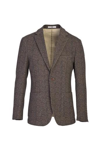 Erkek Giyim - Slim Fit Spor Desenli Ceket