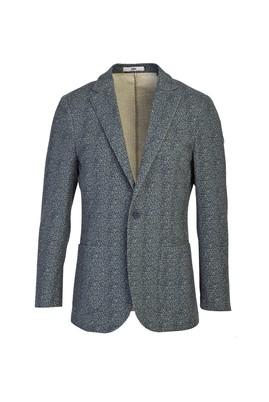 Erkek Giyim - KOYU PETROL 52 Beden Spor Desenli Ceket