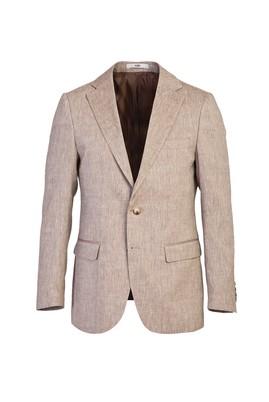 Erkek Giyim - ACI KAHVE MELANJ 48 Beden Klasik Ceket