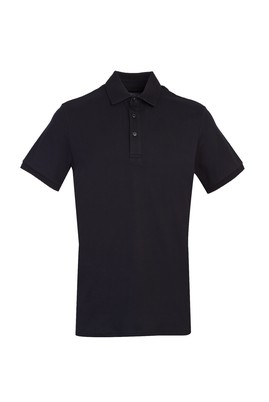 Erkek Giyim - SİYAH M Beden Polo Yaka Slim Fit Tişört