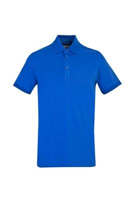 Erkek Giyim - SAKS MAVİ L Beden Polo Yaka Slim Fit Tişört