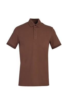 Erkek Giyim - AÇIK KAHVE L Beden Polo Yaka Slim Fit Tişört