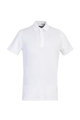 Erkek Giyim - BEYAZ 3X Beden Polo Yaka Slim Fit Tişört