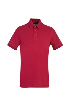 Erkek Giyim - SCARLET KIRMIZISI 3X Beden Polo Yaka Slim Fit Tişört