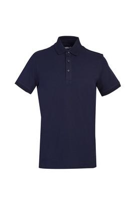 Erkek Giyim - KOYU LACİVERT 3X Beden Polo Yaka Slim Fit Tişört