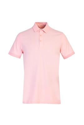 Erkek Giyim - TOZ PEMBE XL Beden Polo Yaka Slim Fit Tişört
