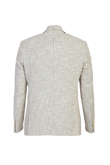 Erkek Giyim - Slim Fit Spor Desenli Yünlü Ceket