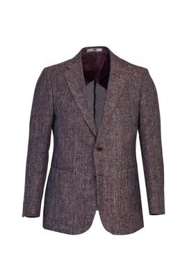 Erkek Giyim - AÇIK MOR 48 Beden Spor Desenli Ceket