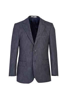 Erkek Giyim - ORTA LACİVERT 48 Beden Klasik Kuşgözü Ceket