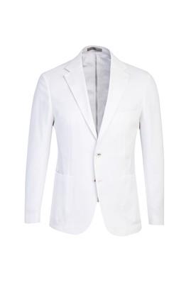 Erkek Giyim - BEYAZ 48 Beden Slim Fit Spor Ceket