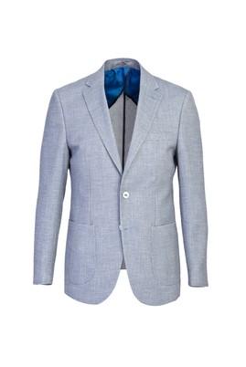 Erkek Giyim - AÇIK MAVİ 44 Beden Slim Fit Kuşgözü Ceket