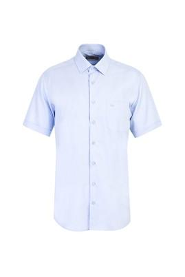 Erkek Giyim - UÇUK MAVİ L Beden Kısa Kol Oxford Klasik Gömlek