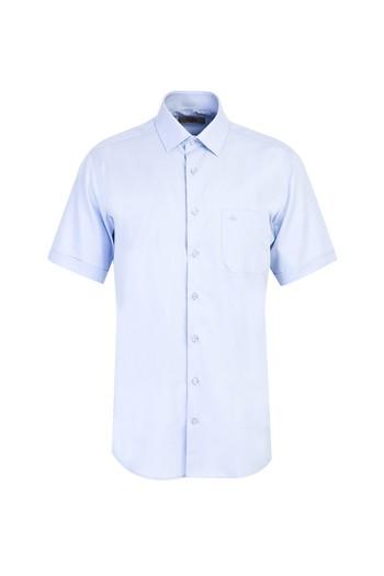 Erkek Giyim - Kısa Kol Regular Fit Oxford Gömlek