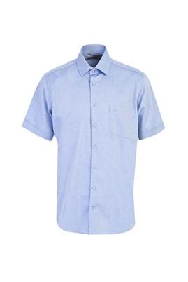 Erkek Giyim - KOYU MAVİ XL Beden Kısa Kol Oxford Klasik Gömlek