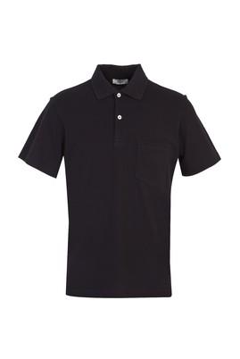 Erkek Giyim - KOYU SİYAH 3X Beden Polo Yaka Regular Fit Tişört