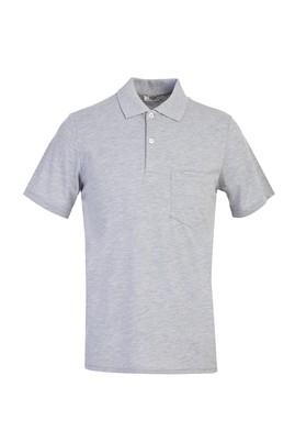 Erkek Giyim - AÇIK GRİ L Beden Polo Yaka Regular Fit Tişört