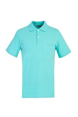Erkek Giyim - AÇIK TURKUAZ XXL Beden Polo Yaka Regular Fit Tişört