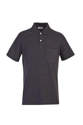 Erkek Giyim - KOYU ANTRASİT XXL Beden Polo Yaka Regular Fit Tişört